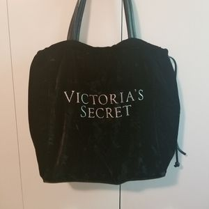 Victoria's Secret Black Velvet Crystal Tote Bag